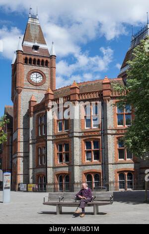 England, Berkshire, Reading, Town hall - Stock Photo