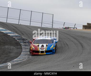 Monterey, CA, USA. 6th May, 2018. A. # 19 Christopher Cagnazzi in the corkscrew during the Ferrari Challenge Trofeo Pirelli Race 2 at WeatherTech Raceway Laguna Seca Monterey, CA Thurman James/CSM/Alamy Live News