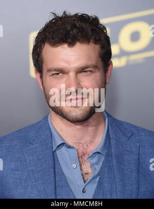 Hollywood, California, USA. 10th May, 2018. Alden Ehrenreich arrives for the premiere of the film 'Solo: A Star Wars Story' at the El Capitan theater. Credit: Lisa O'Connor/ZUMA Wire/Alamy Live News - Stock Photo