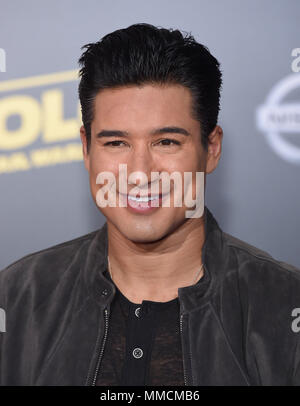 Hollywood, California, USA. 10th May, 2018. Mario Lopez arrives for the premiere of the film 'Solo: A Star Wars Story' at the El Capitan theater. Credit: Lisa O'Connor/ZUMA Wire/Alamy Live News - Stock Photo