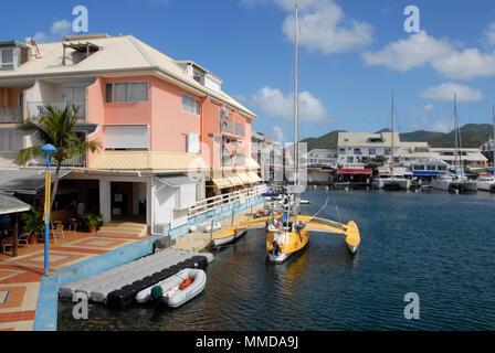 Port la royale marina st martin caribbean stock photo - Marina port la royale marigot st martin ...