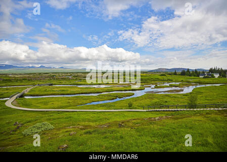Iceland Landscape view - Stock Photo