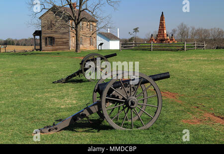Site of two key Confederate victories during the American Civil War, Henry House Hill is now part of Manassas National Battlefield Park in Virginia - Stock Photo