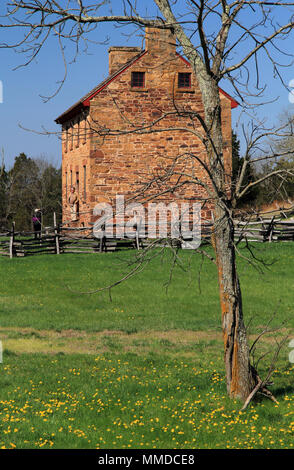 The Stone House at Manassas Battlefield National Park served as a Union field hospital during two major military engagements in the American Civil War - Stock Photo