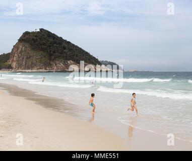 As a travel photographer. Images of my time spent in Copacabana Beach, Rio de Janeiro - Stock Photo