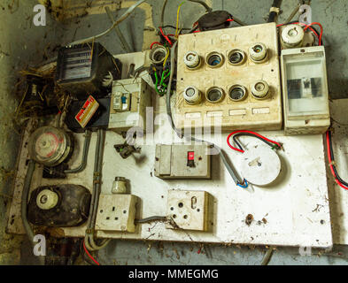 fuse distribution box main switch old electrical distribution or wiring box stock photo 282450569  distribution or wiring box stock photo