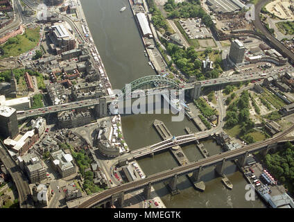 Tyne Bridge Newcastle City Centre - Stock Photo