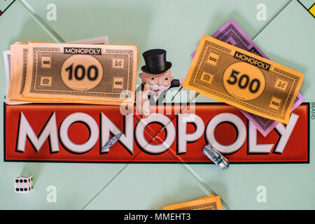 Monopoly game board - Stock Photo