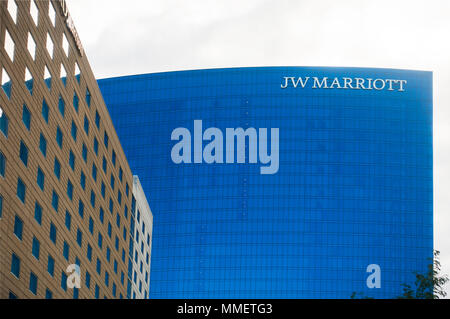 JW Marriott hotel in downtown Indianapolis Indiana - Stock Photo
