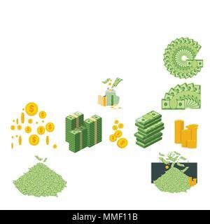money big set of icons - Stock Photo