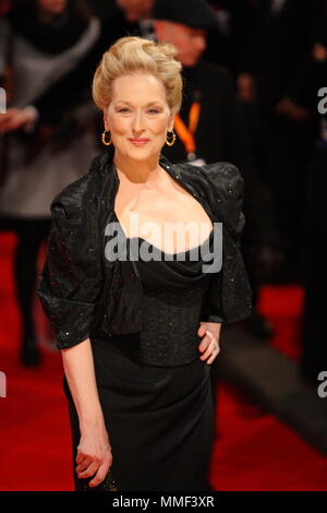 Meryl Streep attends the 2012 Orange British Academy Film Awards at The Royal Opera House, Covent Garden, London, 12 February 2012, --- Image by © Paul Cunningham - Stock Photo