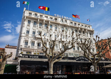 Hotel Splendid in Cannes, France, 4 star accommodation in the city center - Stock Photo