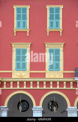 Facade of shopping center Lafayette, Place Masséna, Nice, Côte d'Azur, Alpes-Maritimes, South France, France, Europe - Stock Photo