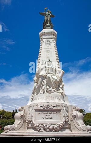 Monument du Centenaire at parc Jardin Albert, Promenade des Anglais, Nice, Côte d'Azur, Alpes-Maritimes, South France, France, Europe - Stock Photo