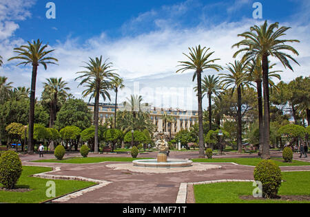 Boscolo Hotel Plaza, luxury hotel at Jardin Albert, Promenade des Anglais, Nice, Côte d'Azur, Alpes-Maritimes, South France, France, Europe - Stock Photo