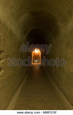 The entrance to the Lehman Caves in Great Basin National Park. - Stock Photo