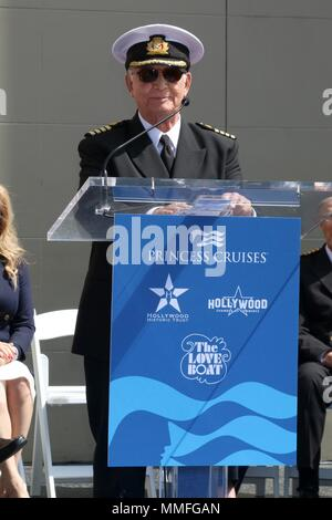 Los Angeles, CA, USA. 10th May, 2018. LOS ANGELES - MAY 10: Gavin MacLeod at the Princess Cruises Receive Honorary Star Plaque as Friend of the Hollywood Walk Of Fame at Dolby Theater on May 10, 2018 in Los Angeles, CA at a public appearance for THE LOVE BOAT Original Cast Receive Hollywood Walk of Fame Honorary Star Plaque, Dolby Theatre, Los Angeles, CA May 10, 2018. Credit: Priscilla Grant/Everett Collection/Alamy Live News - Stock Photo