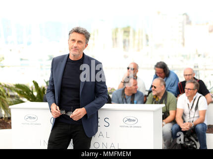 Cannes, France. 11th May, 2018. Director Pawel Pawlikowski attends the photocall for 'Cold War' during the 71st annual Cannes Film Festival in Cannes, France, on May 11, 2018. Credit: Luo Huanhuan/Xinhua/Alamy Live News - Stock Photo