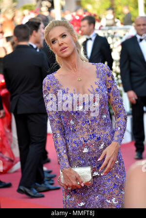 CANNES, FRANCE. May 11, 2018: Victoria Silvstedt at the gala screening for 'Ash Is The Purest White' at the 71st Festival de Cannes Picture: Sarah Stewart Credit: Sarah Stewart/Alamy Live News - Stock Photo