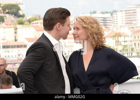 Cannes, France. 11th May, 2018. ActorEERO MILONOFF and actress EVA MELANDER attend the photocall for 'Grans' during the 71st annual Cannes Film Festival at Palais des Festivals. Credit: Frederick Injimbert/ZUMA Wire/Alamy Live News - Stock Photo
