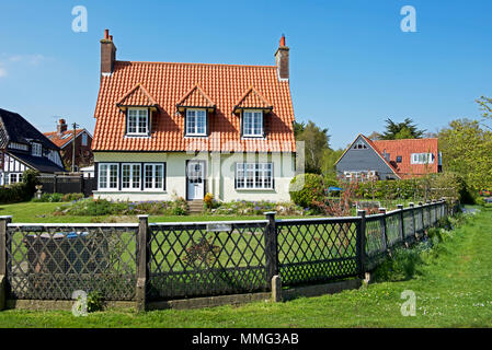House in the holiday village of Thorpeness, Suffolk, England UK - Stock Photo