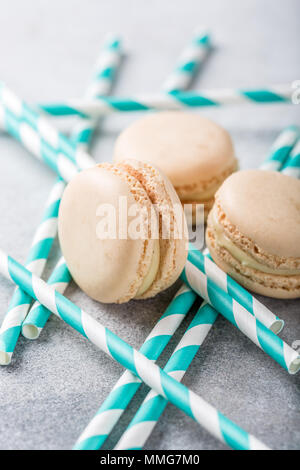 French assorted macarons - Stock Photo