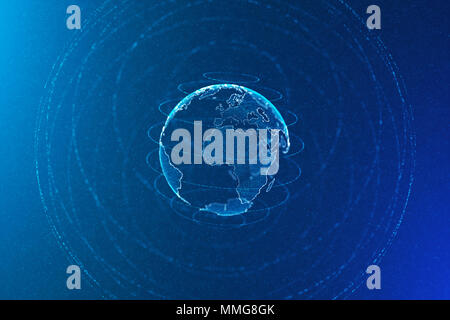 Global communications and business concept, abstract illustration - Stock Photo