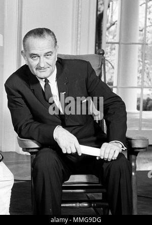 Lyndon Baines Johnson (1908 – 1973), LBJ, American politician who served as the 36th President of the United States from 1963 to 1969 - Stock Photo