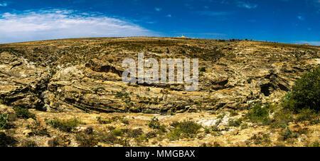 Panorama view to Adi Alauti canyon, Qohaito, Eritrea - Stock Photo