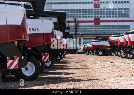 ROSTOV-ON-DON, RUSSIA - APRIL 26, 2018: New harvesters Acros - Stock Photo