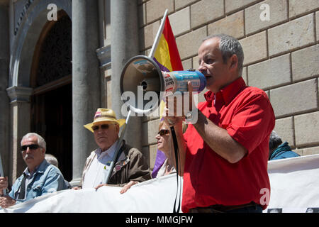 Barcelona, Spain 2013. Political activists - Stock Photo