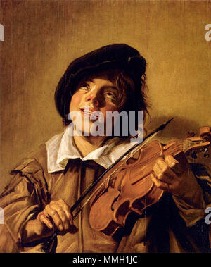 .  English: 'Boy Playing A Violin'   This object is indexed in RKDimages, database of the Netherlands Institute for Art History, under the reference 198539. čeština | English | français | македонски | Nederlands | +/−    Boy Playing A Violin. between 1625 and 1635. Follower of   Frans Hals  (1582/1583–1666)      Alternative names Frans Franchoisz Hals  Description Dutch painter and draughtsman  Date of birth/death 1582 or 1583 26 August 1666  Location of birth/death Antwerp Haarlem  Work period between circa 1603 and circa 1666  Work location Haarlem  Authority control  : Q167654 VIAF:?1001656 - Stock Photo