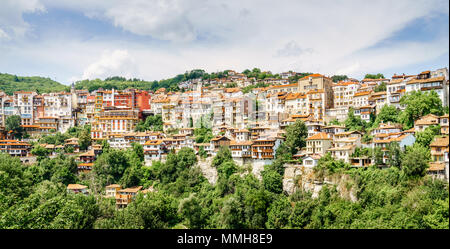 Residential area in the city of Veliko Tarnovo, Bulgaria - Stock Photo