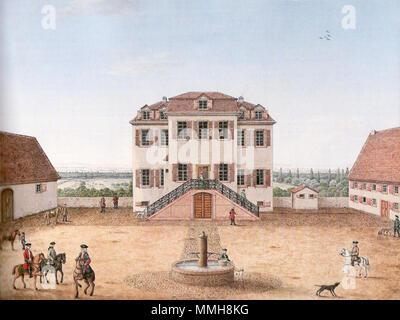 . in Darmstadt, Sitz des Jazzinstitutes  Bessunger Kavaliershaus. 1872. Darmstadt Kavaliershaus - Stock Photo