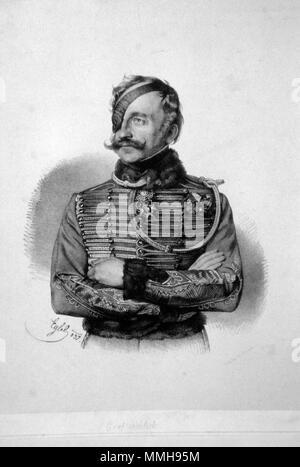 . Deutsch: Franz Graf Schlik von Bassano und Weiskirchen (1789-1862), k. k. General der Kavallerie. Lithographie von Franz Eybl, 1837  . 1837. Franz Eybl (1806-1880) Franz von Schlik Litho - Stock Photo