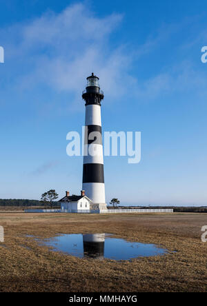 Bodie Island Lighthouse, Cape Hatteras, Outer Banks, North Carolina, USA. - Stock Photo