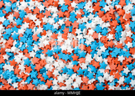 Background  of stars confetti candy sprinkles - Stock Photo
