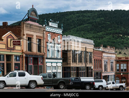 Main Street businesses, Victor, Colorado, USA. - Stock Photo