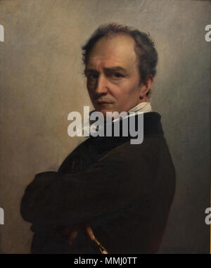 François-Joseph Navez (1787-1869) - Zelfportret (1826) - KMSK Brussel 25-02-2011 13-16-16 25-02-2011 14-16-16 - Stock Photo