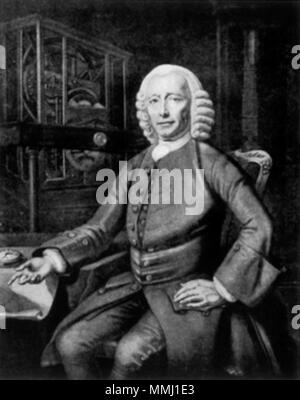 .  English: Portrait of John Harrison (1693-1776), English clockmaker  . 1768. John Harrison - Stock Photo