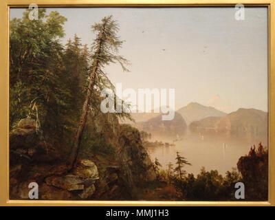 . Along the Hudson  Along the Hudson. 1852. Along the Hudson, 1852, by John Frederick Kensett - SAAM - DSC00830 - Stock Photo