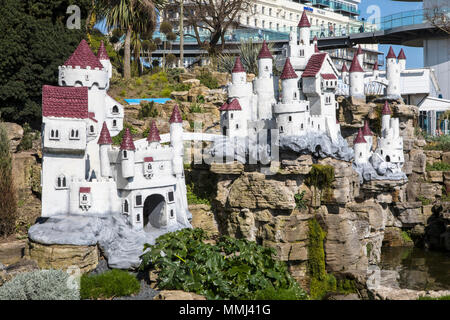 SOUTHEND-ON-SEA, ESSEX - APRIL 18TH 2018: The Fairy Castle in the Southend Cliff Gardens in Southend-on-Sea, Essex, UK, on 18th April 2018. - Stock Photo