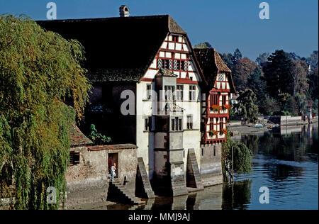 Stein am Rhein,Switzerland - Stock Photo
