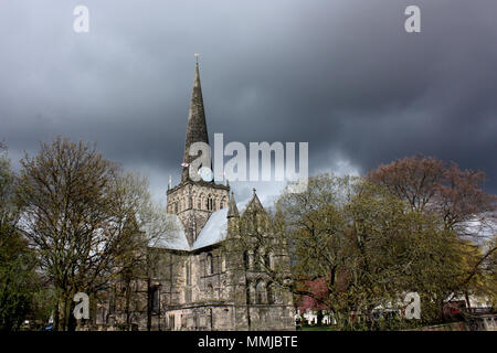 St Cuthbert's church in Darlington - Stock Photo