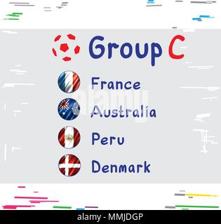 Football Cup Russia Group C - Stock Photo