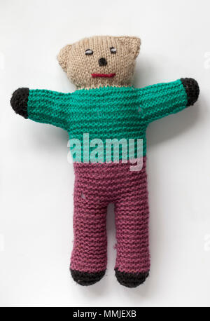 Vintage Hand Knitted Teddy Bear Stock Photo 184803642 Alamy
