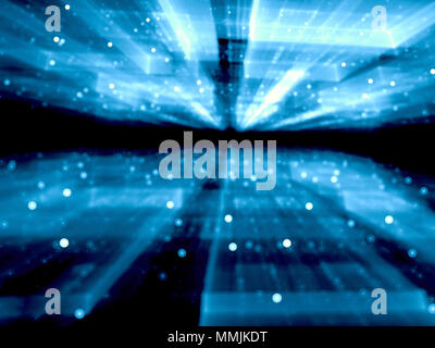 Blurred technology background - abstract digitally generated ima - Stock Photo