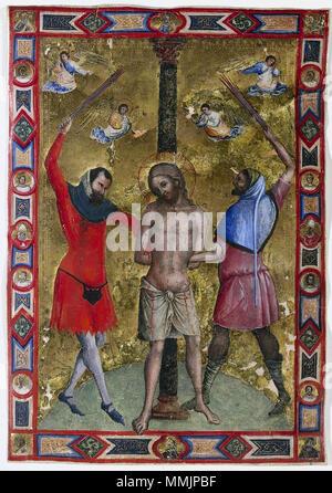 .  English: Lorenzo Veneziano Miniature from a Mariegola 1350-75 Cleveland Museum of Art.  . 1350-75. 28 Lorenzo Veneziano Miniature from a Mariegola 1350-75 Cleveland Museum of Art - Stock Photo