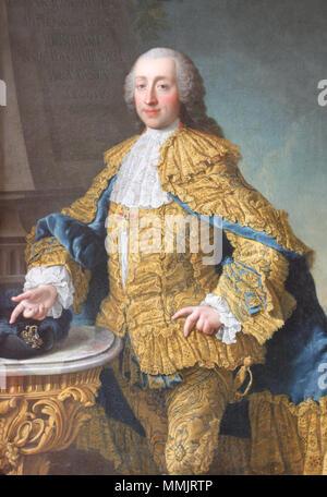 Portrait of Wenzel Anton, Prince of Kaunitz-Rietberg (1711-1794). circa 1749-1752. Wenzel Anton Graf von Kaunitz-Riethberg - Stock Photo