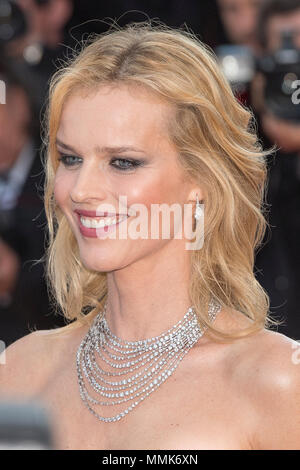 Cannes, France. 11th May 2018.  Eva Herzigova attends the screening of 'Ash Is The Purest White (Jiang Hu Er Nv)' during the 71st annual Cannes Film Festival at Palais des Festivals on May 11, 2018 in Cannes, France Credit: BTWImages/Alamy Live News - Stock Photo
